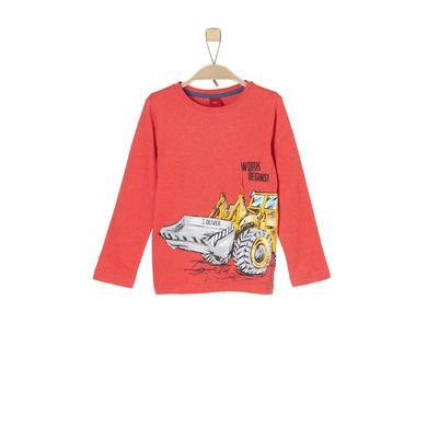 s.Oliver Boys Langarmshirt red melange rot Gr.Kindermode (2 6 Jahre) Jungen