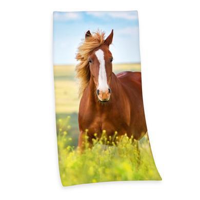 Kindertextilien - Herding Badetuch Pferd 75 x 150 cm bunt Gr.75 cm  - Onlineshop Babymarkt
