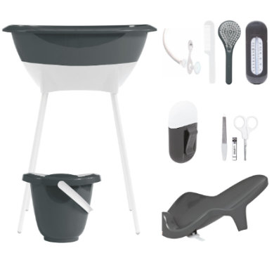 Luma ® Babycare sada pro péči a koupel, vzor: Dark Grey - černá
