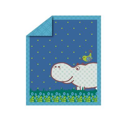 toTs by smarTrike® - Lekmatta Joy Flodhäst, blå 100x120 cm