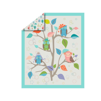 toTs by smarTrike® - Lekmatta Joy Owl 100x120 cm