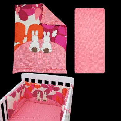 toTs by smarTrike bed set Joy Rabbit pink