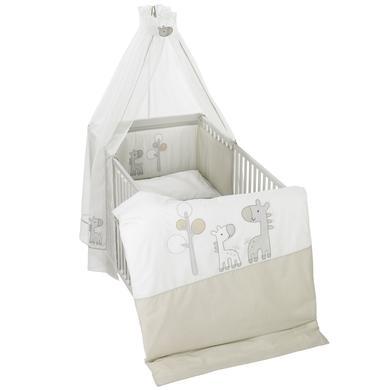 Kindertextilien - Alvi Bettgarnitur 3 tlg, Giraffe beige Gr.100x135 cm  - Onlineshop Babymarkt