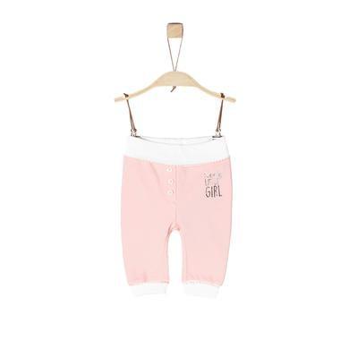 s.Oliver Girls Sweathose rosy melange rosa pink Gr.Newborn (0 6 Monate) Mädchen