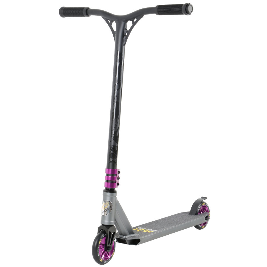 bikestar STAR SCOOTER® Premium Freestyle Stuntscooter 110mm Grau Lila