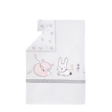 Kindertextilien - JULIUS ZÖLLNER Bettwäsche Fuchs und Hase 100 x 135 cm bunt  - Onlineshop Babymarkt