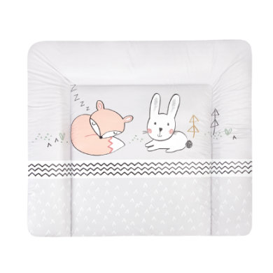 Wickelmöbel und Zubehör - JULIUS ZÖLLNER Wickelauflage Softy Fuchs und Hase 75 x 85 cm bunt  - Onlineshop Babymarkt