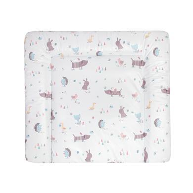 Wickelmöbel und Zubehör - JULIUS ZÖLLNER Wickelauflage Softy Crazy Animals 65 x 75 cm grau  - Onlineshop Babymarkt