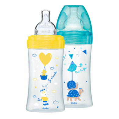 dodie  Start Set Sensation 2 x 270 ml žlutátyrkysová - Gr.260 ml - 350 ml