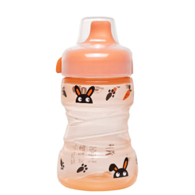 nip Trainer Cup PP mit festem Trinkschnabel Hase 260 ml - orange - Gr.260ml-350ml