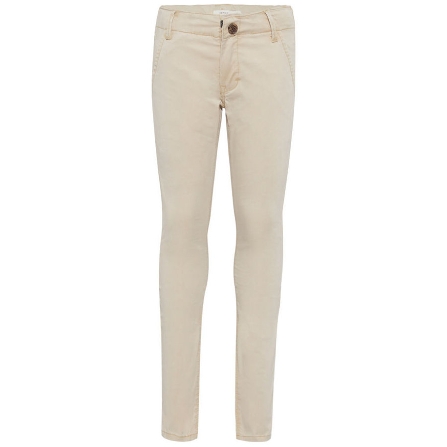 name it Boys Chinohose Timber white pepper