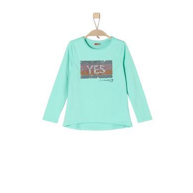 Minigirloberteile - s.Oliver Girls Langarmshirt mint green - Onlineshop Babymarkt