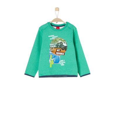 Miniboyoberteile - s.Oliver Boys Sweatshirt green melange - Onlineshop Babymarkt
