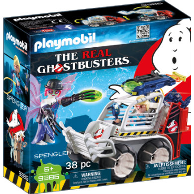 Playmobil  9386 The Real Ghostbusters Spengler ve vozidle s klecí
