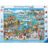 Ravensburger Rahmenpuzzle - Ein Tag am Hafen, 24 Teile