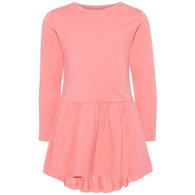 name it Girls Kleid Nmfvita sunkist coral rosa pink Gr.80 Mädchen