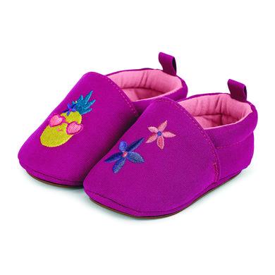 Babyschuhe - Sterntaler Girls Baby–Krabbelschuh Stickerei magenta - Onlineshop Babymarkt