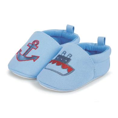 Babyschuhe - Sterntaler Boys Baby–Krabbelschuh Stickerei himmel – blau – Gr.17 18 – Jungen - Onlineshop Babymarkt