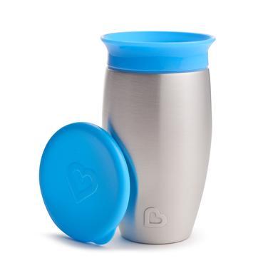 munchkin  Trinklernbecher Miracle® 360° blau tropfsicherer Edelstahl 296 ml - Gr.260ml-350ml