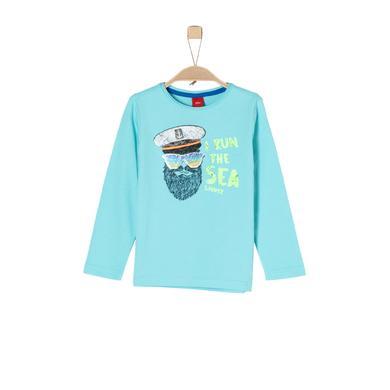 Miniboyoberteile - s.Oliver Boys Langarmshirt turquoise - Onlineshop Babymarkt
