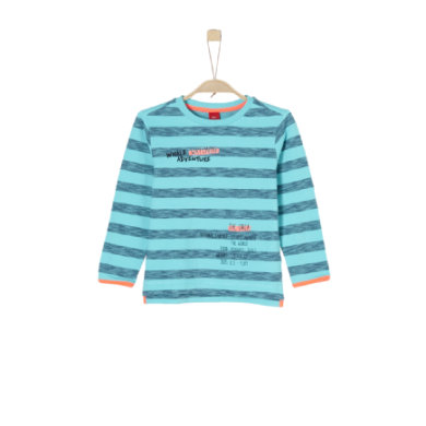 Miniboyoberteile - s.Oliver Boys Sweatshirt turquoise stripes - Onlineshop Babymarkt
