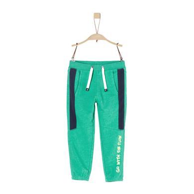 Miniboyhosen - s.Oliver Boys Jogginghose green melange - Onlineshop Babymarkt
