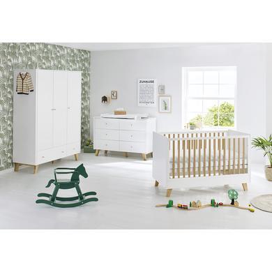 Babyzimmer - Pinolino Kinderzimmer Pan 3 türig extrabreit weiß  - Onlineshop Babymarkt