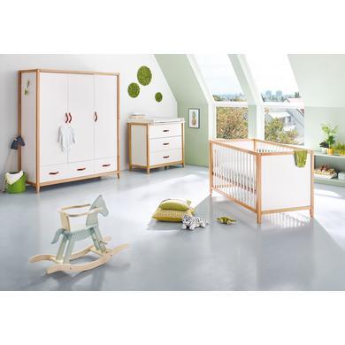 Pinolino dětský pokoj Calimero třídveřový široký - bílá