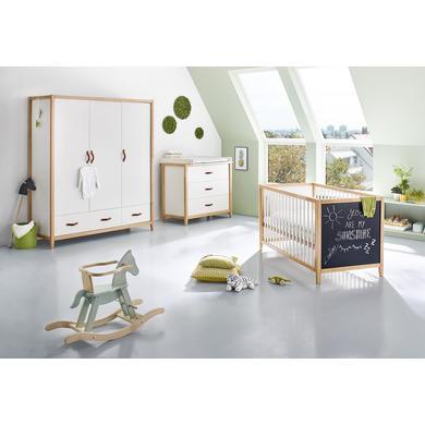Pinolino dětský pokoj Calimero třídveřový široký lakovaný barvou na tabule - bílá