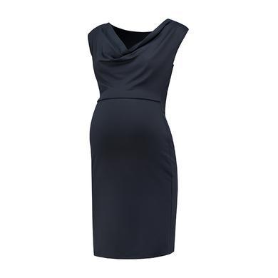 Schwangerschaftsmode für Frauen - LOVE2WAIT Stillkleid Waterfall Neckline blau Damen  - Onlineshop Babymarkt