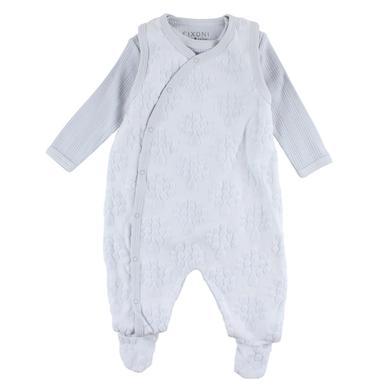 Fixoni Baby Strampler soft blue Frosch blau Gr.Newborn (0 6 Monate) Jungen