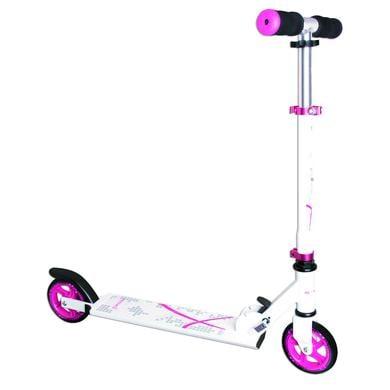 Roller - AUTHENTIC SPORTS Aluminium Scooter Muuwmi 125 mm, weiß pink - Onlineshop