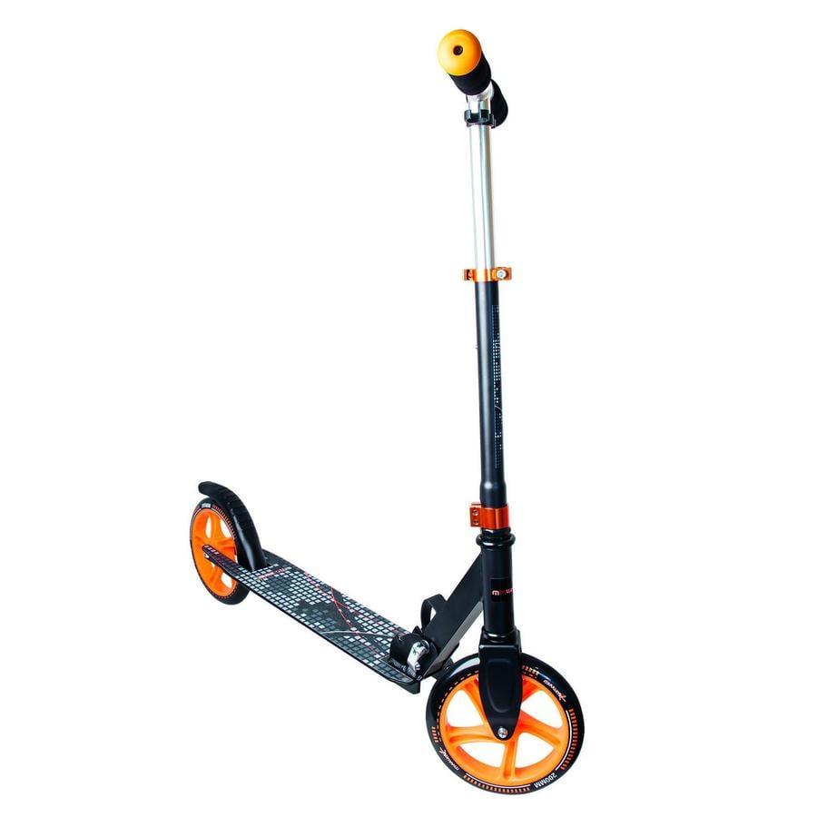 AUTHENTIC SPORTS Aluminium Scooter Muuwmi schwarz orange, 200 mm