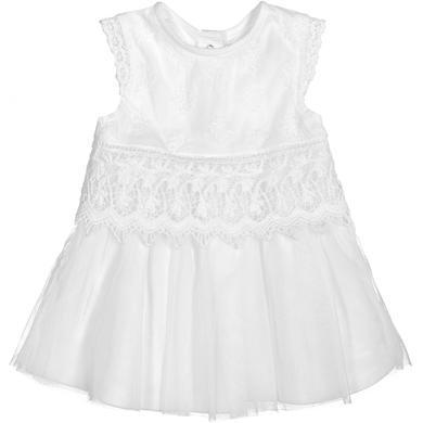 Babytaufbekleidung - Staccato Girls Kleid weiß – Gr.Babymode (6 – 24 Monate) – Mädchen - Onlineshop Babymarkt