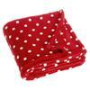 Playshoes Fleece-Decke 75x100cm Punkte rot