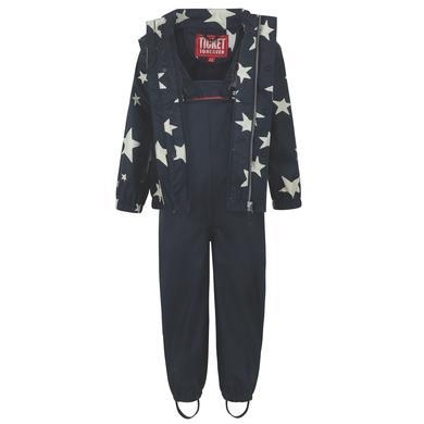 TICKET TO HEAVEN Regenanzug Gummi 2 tlg., mit abnehmbarer Kapuze, dunkelblau Sterne Gr.Babymode (6 24 Monate) Unisex