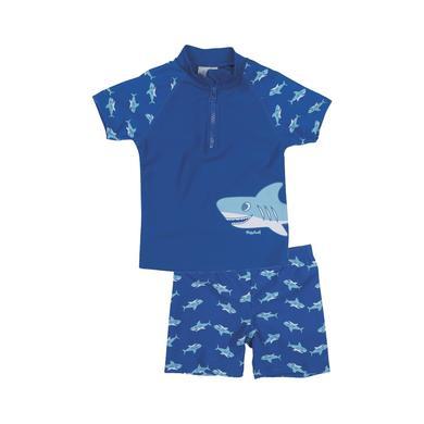 Playshoes UV Schutz Bade Set Hai blau Gr.122 128 Jungen