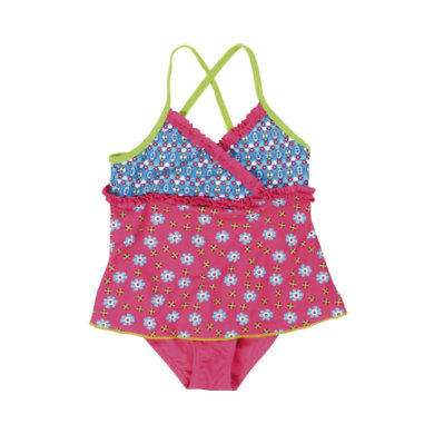Minigirlbademode - Playshoes UV–Schutz Badeanzug Blume pink - Onlineshop Babymarkt