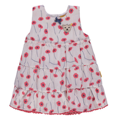Steiff Girls Kleid mit Blumen weiß Gr.98 Mädchen