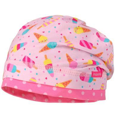 Minigirlaccessoires - maximo Girls Beanie Eiscreme zartrosa–gelb - Onlineshop Babymarkt