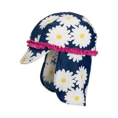 UV-Schutz Kopftuch Margerite - blau - Gr.51 cm - Mädchen