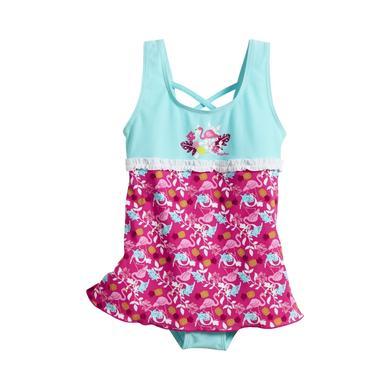 Playshoes UV Schutz Badeanzug mit Schwimmrock Flamingo türkis Gr.Babymode (6 24 Monate) Mädchen