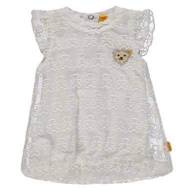 Steiff Girls Kleid mit Flügelarm, weiß Gr.62 Mädchen