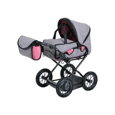 knorr® toys Kočárek pro panenky Ruby - Jeans grey
