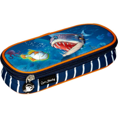 Coppenrath Etui Box Capt'n Sharky Tiefsee blau