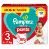 Pampers Baby Dry vaippahousut, koko 3 Midi 180 -vaipat 6 - 11 kg: n kuukausilaatikossa