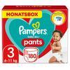 PAMPERS Pannolini Baby Dry Pants Misura 3 (6-11kg) Confezione risparmio 180 pezzi