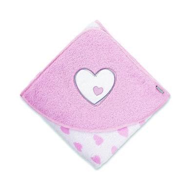 Kindertextilien - Sterntaler Badetuch Emmi Girl Herz 100x100 weiß  - Onlineshop Babymarkt