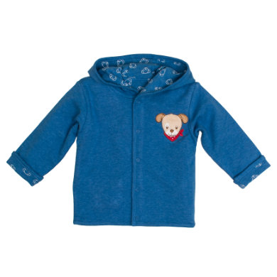 Salt and Pepper BabyGlück Sweatjacke allover blue melange blau Gr.62 Jungen