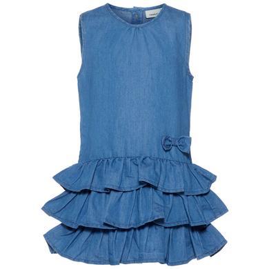 Minigirlroeckekleider - name it Girls Kleid Nmfbabra medium blue denim – blau – Gr.104 – Mädchen - Onlineshop Babymarkt